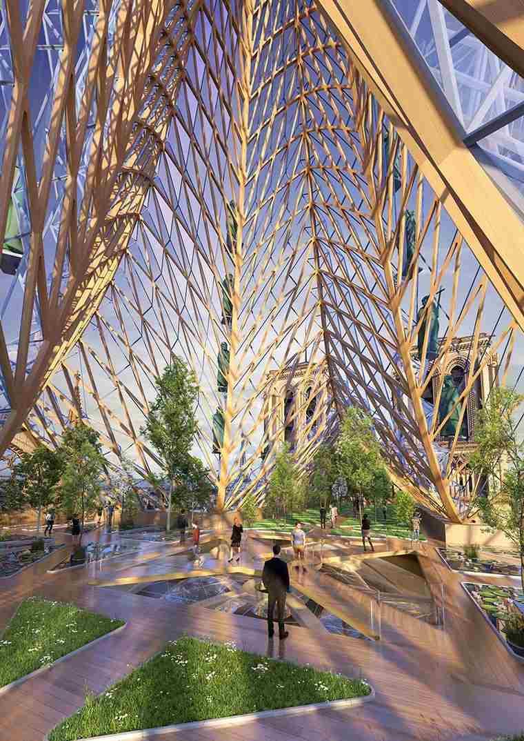 Vincent-Callebaut-catedral-Notre-Dame-techo-cristal