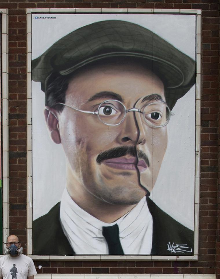 arte callejero akse retrato