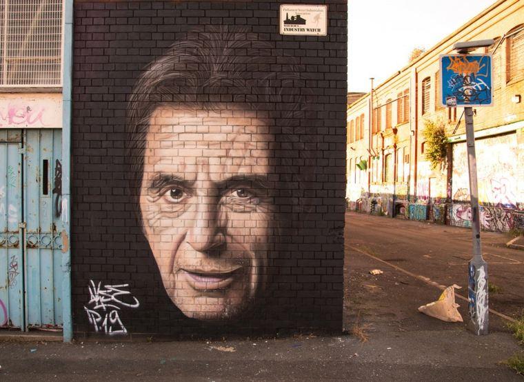 arte callejero al pacino