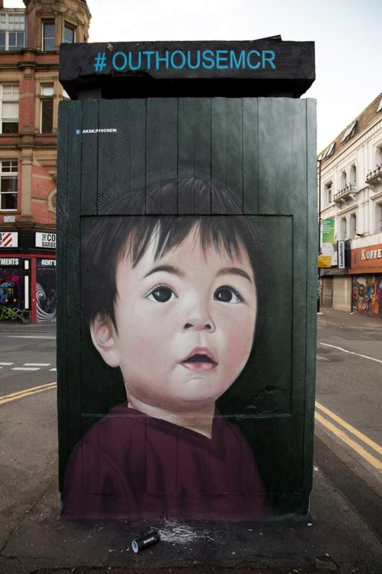 arte callejero niño pequeñp
