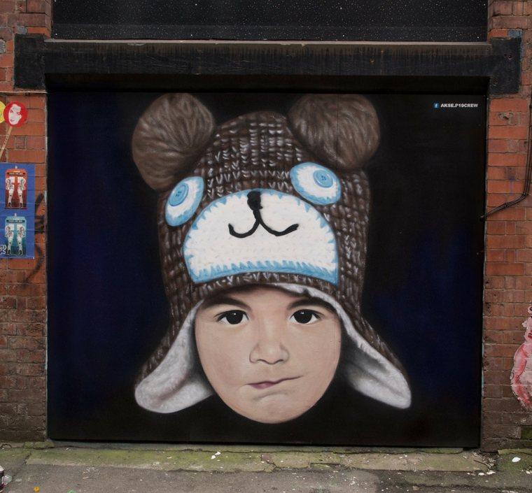 arte callejero niño