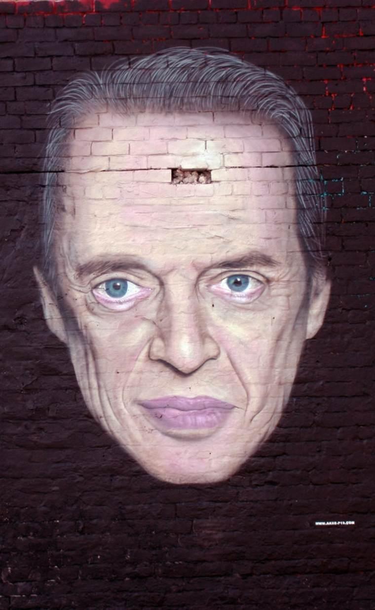arte callejero retrato de hombre