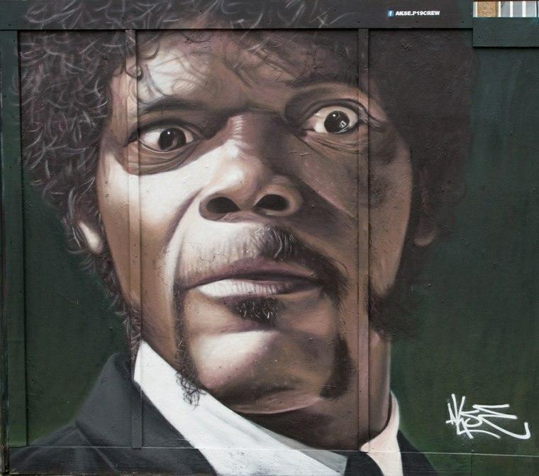 arte callejero retrato graffiti