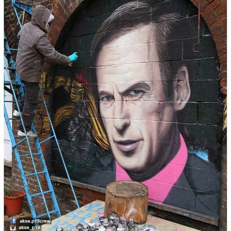 arte callejero retrato hombre