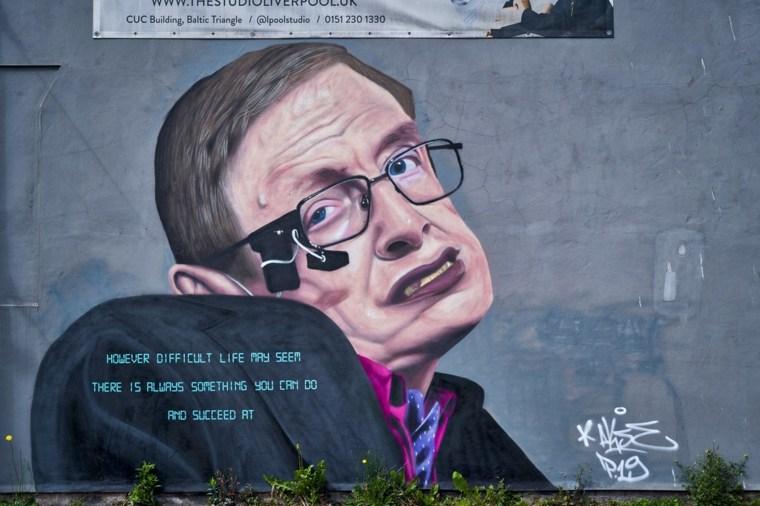 arte callejero stephen hawking