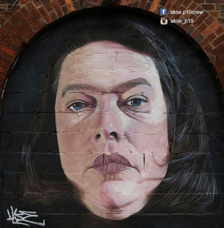 arte graffiti retrato