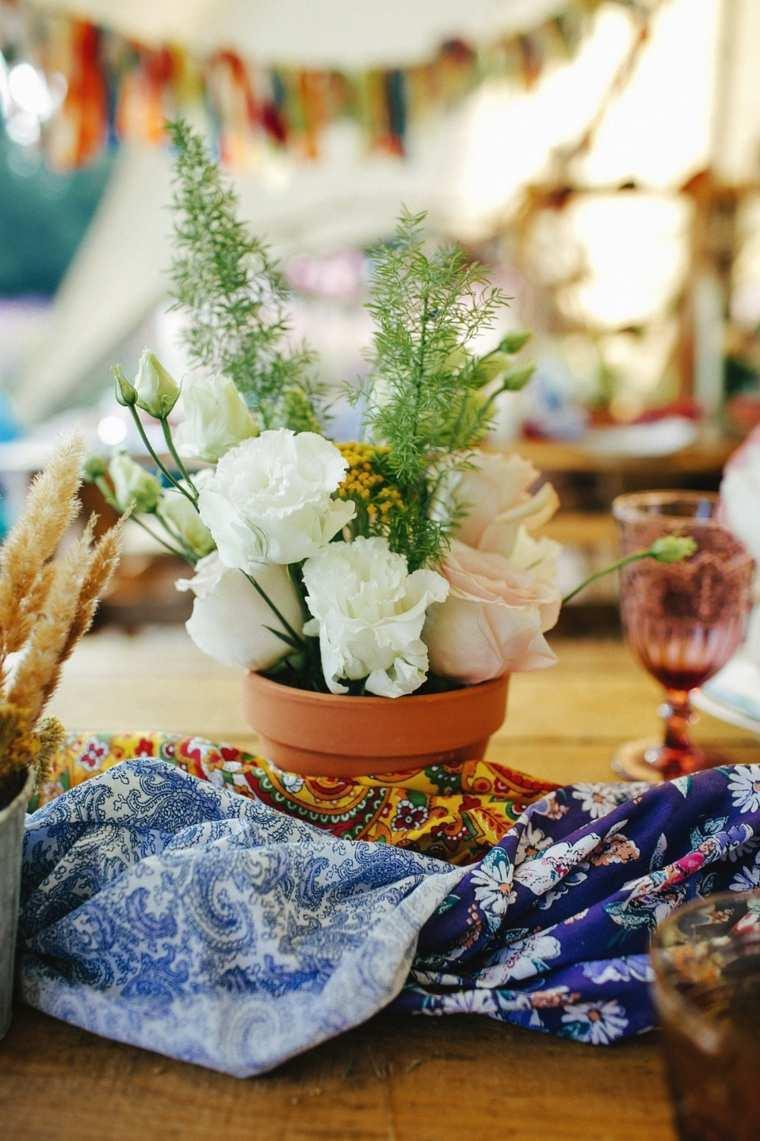 boda-boho-chic-estilo-decorar-macetas