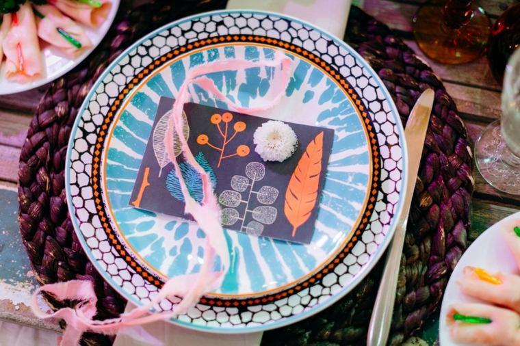 boda-boho-chic-estilo-mesa-platos