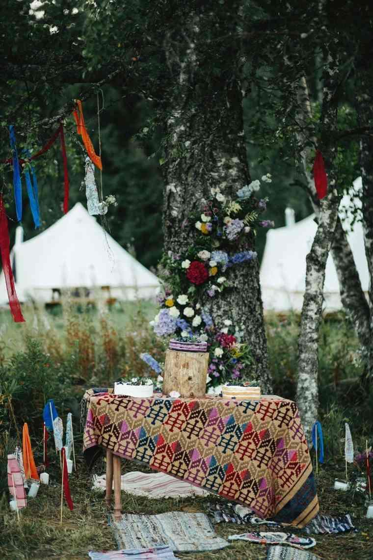boda boho chic-mesa-dulces
