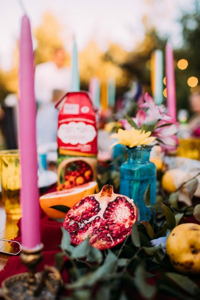 boda-decorar-mesa-frutas-estilo-bohemio