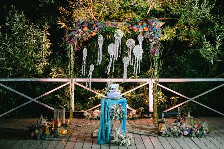 boda-estilo-boho-gitano-altar