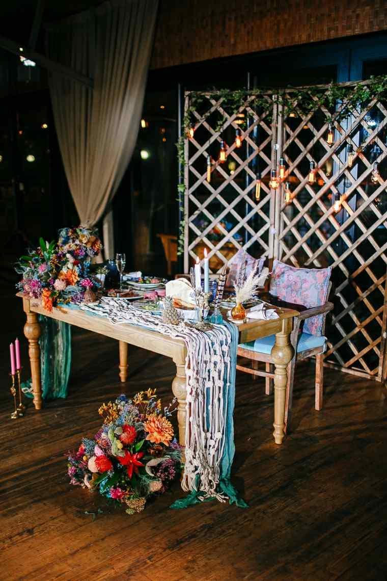 boda-estilo-boho-gitano-mesa-novios