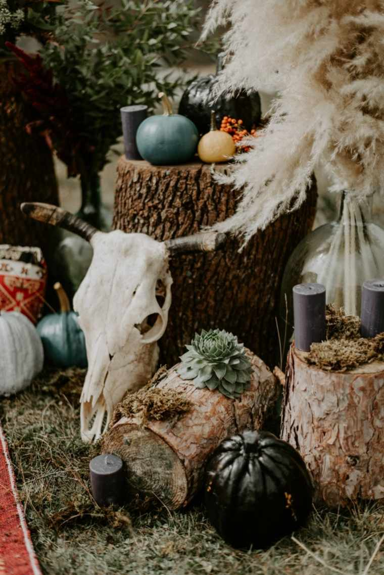 boda-estilo-boho-montana-altar-decoracion