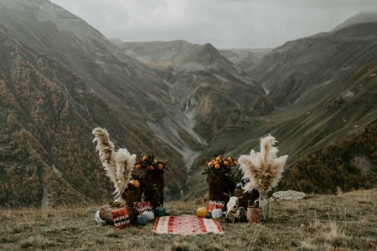 boda-estilo-boho-montana-altar-ideas