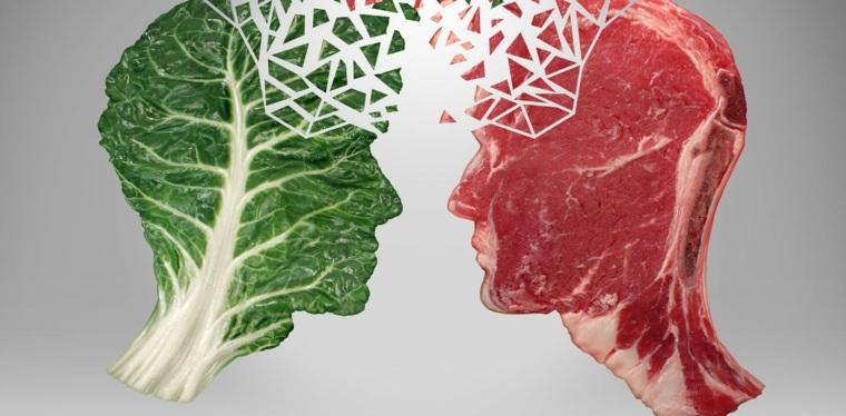 carne vs verduras