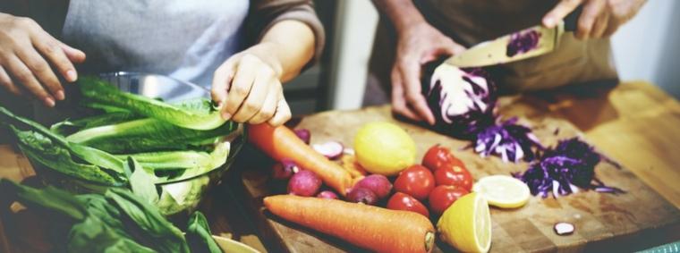 cocinar almuerzo vegetariano