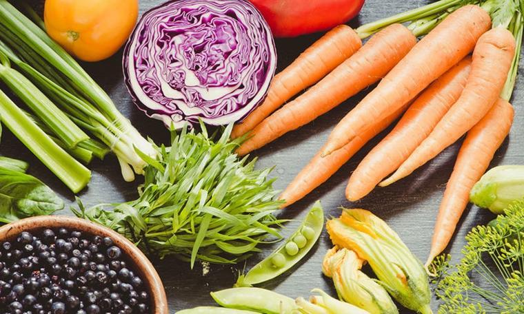 comida vegana y vegetariana