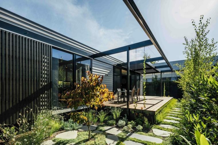 cómo decorar una terraza pequeña-diseno-plantas-