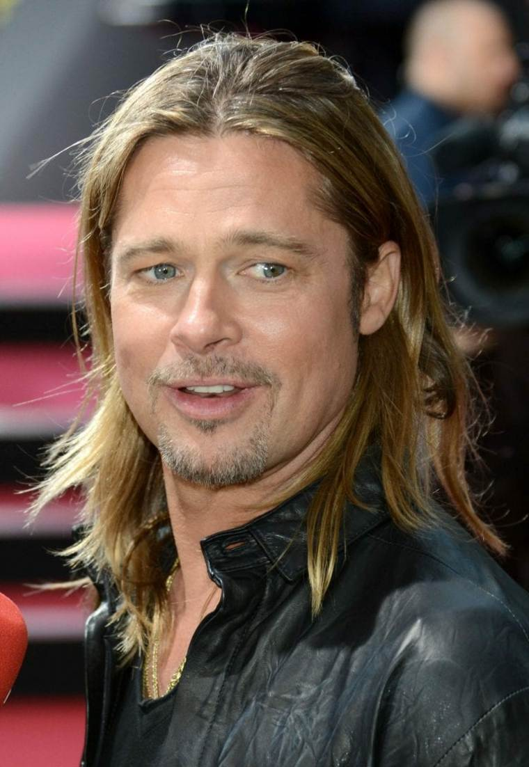 cortes de pelo largo hombre 2019 Brad-Pitts