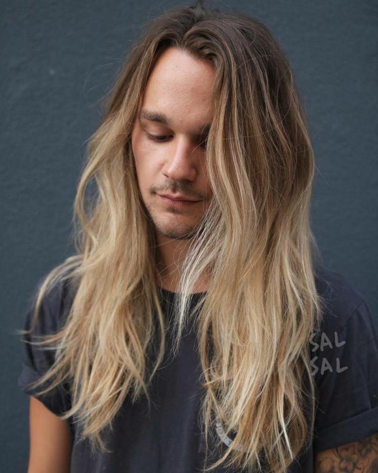 cortes de pelo largo hombre 2019-cabello-rubio