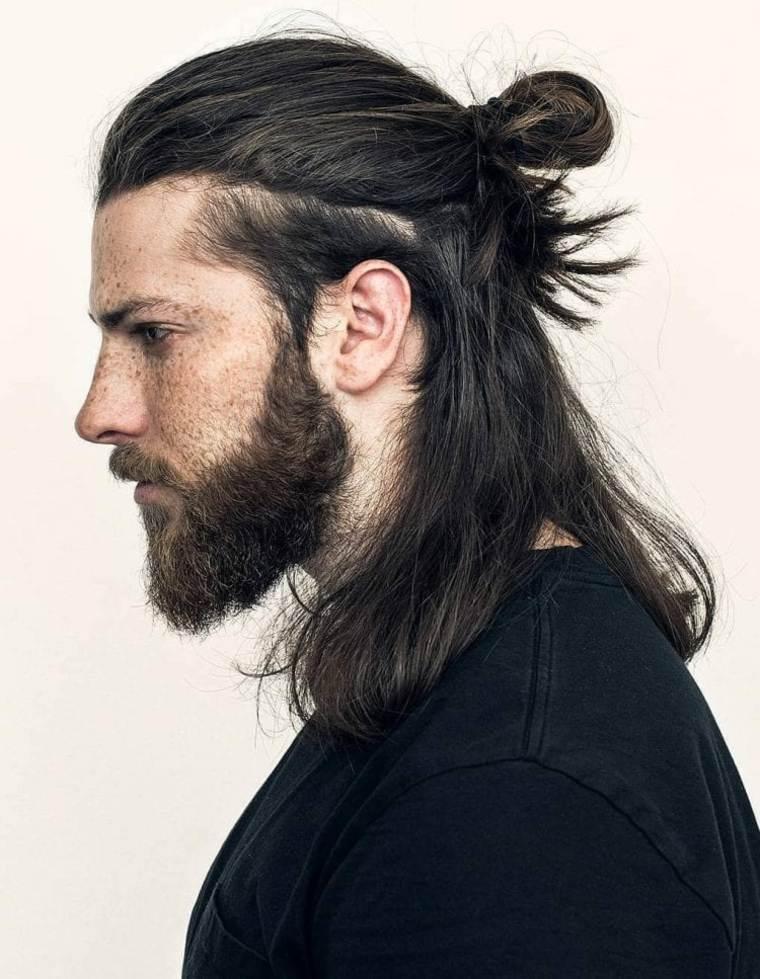 cortes-de-pelo-largo-hombre-2019-recogido