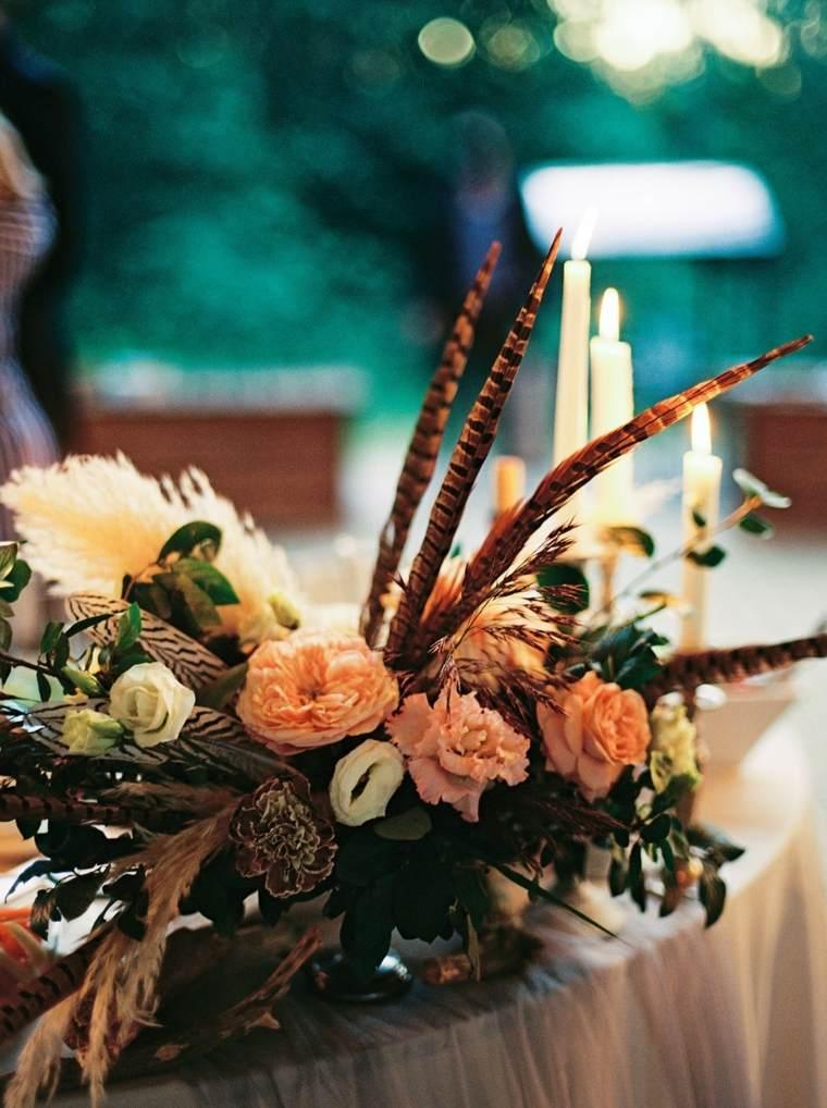 decoraciones-boda-boho-centro-mesa-bello