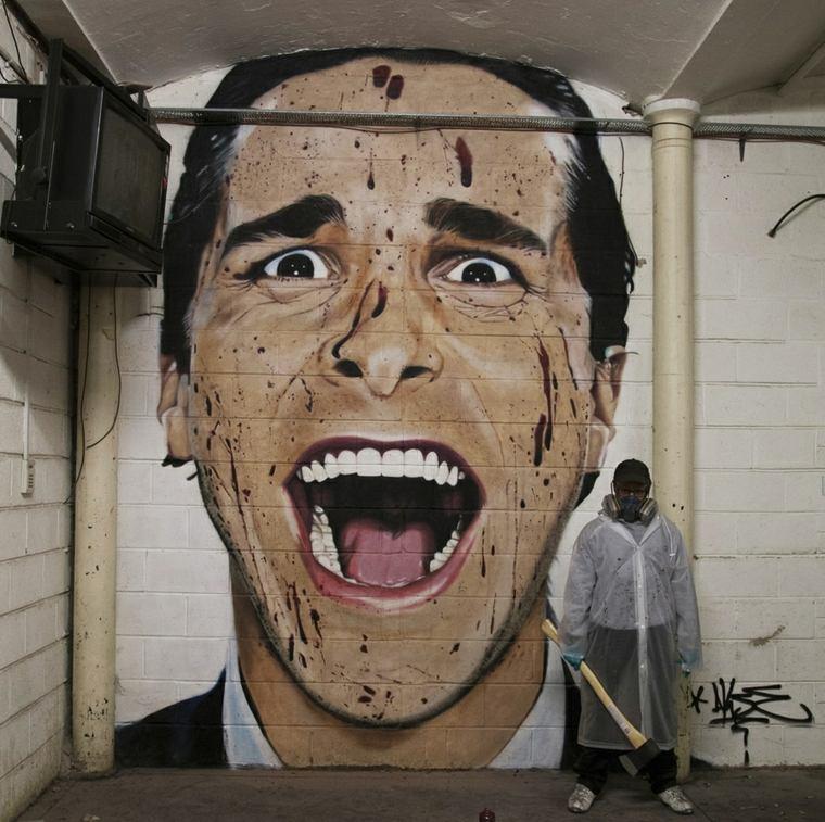 graffiti retrato de akse