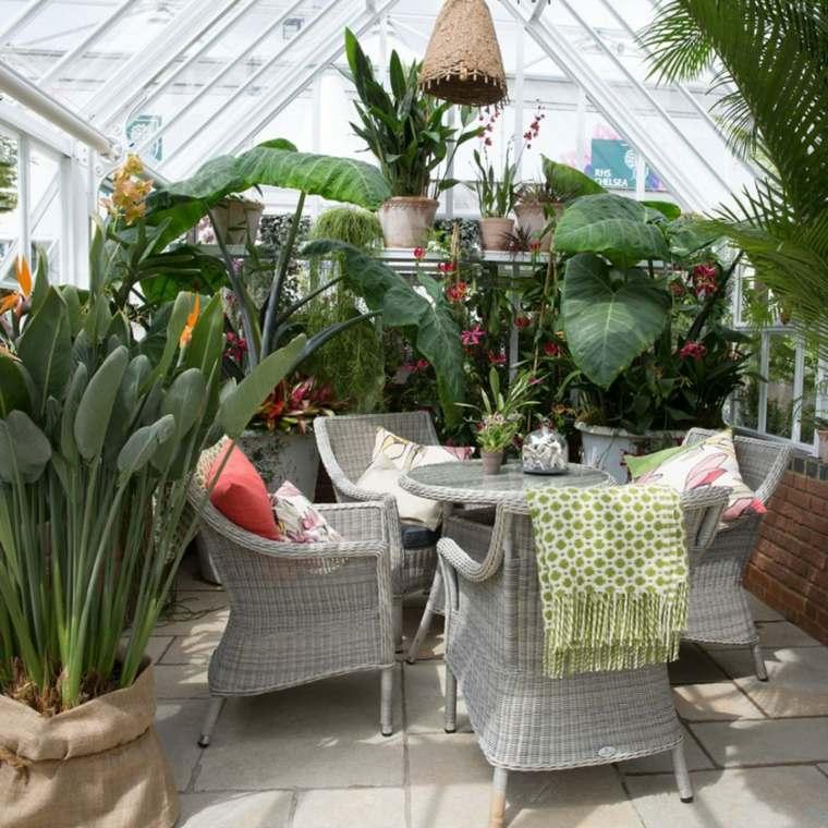 jardín terraza decoración