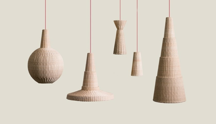 lámparas de mimbre ideas-diseno-Maurizio-Bernabei