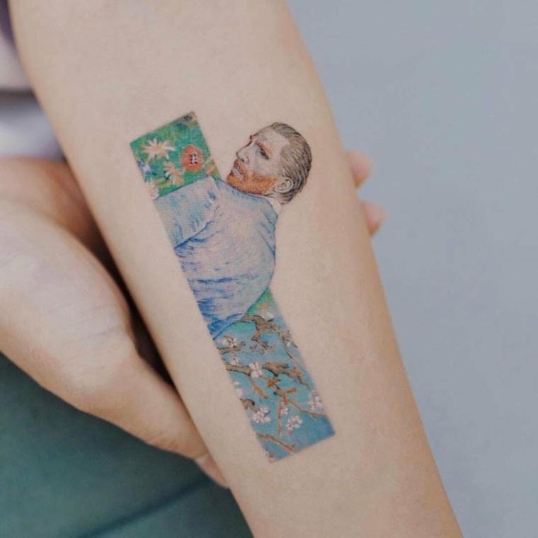 tatuajes en tendencia Van Gogh