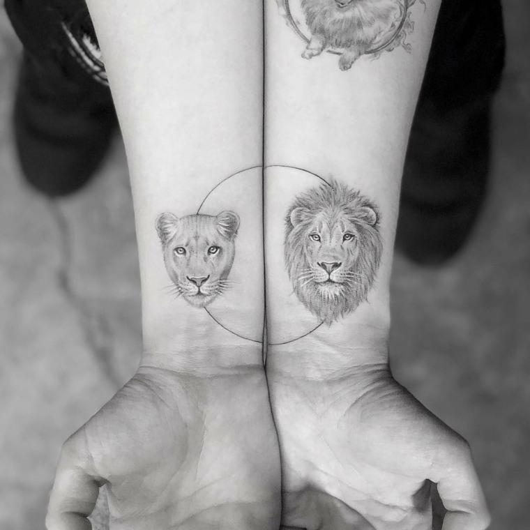 tatuajes modernos de dos partes