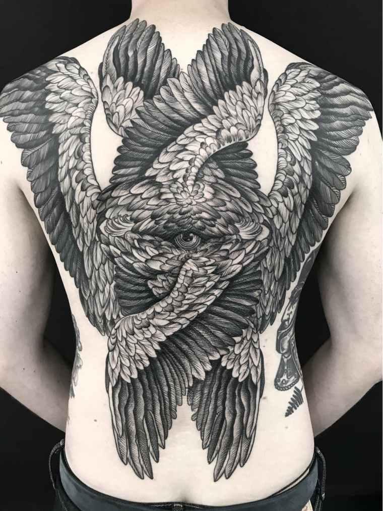 tatuajes modernos espalda completa