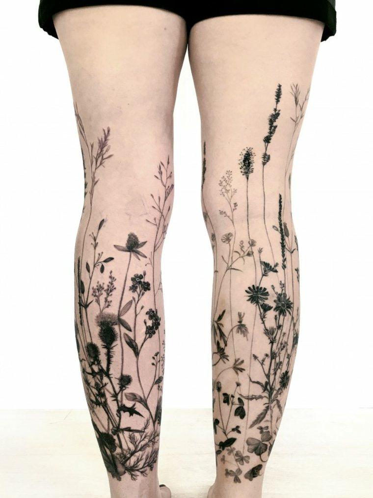 tatuajes modernos piernas