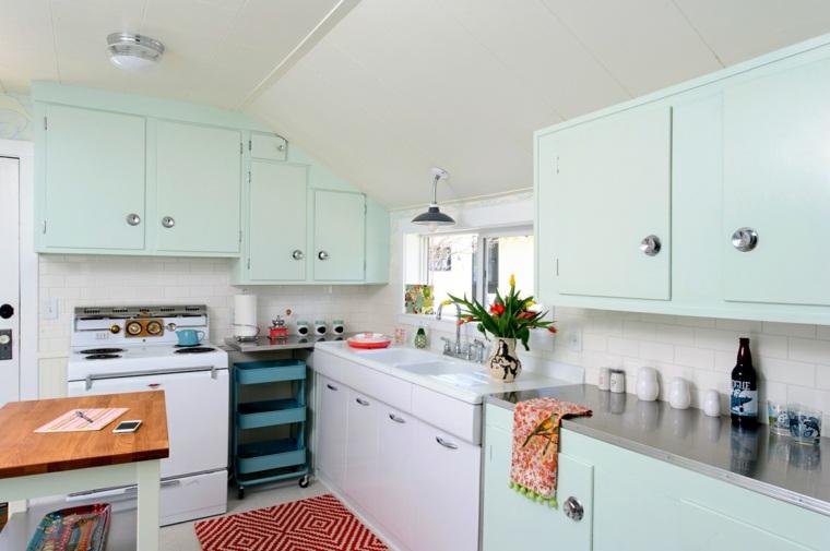 еstilos de cocinas-cocina-pequena-color-mint