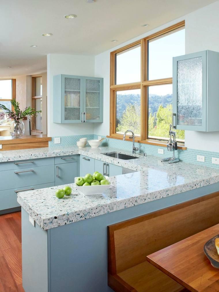 еstilos de cocinas-muebles-azul-clato-cocina