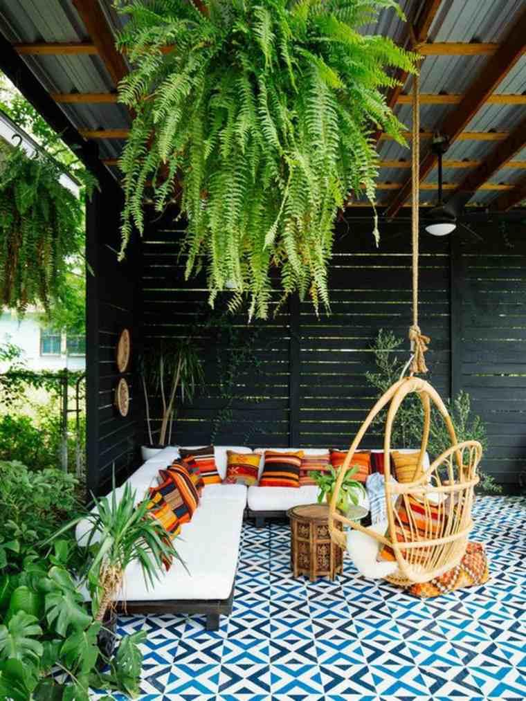 decorar patio de estilo boho chic