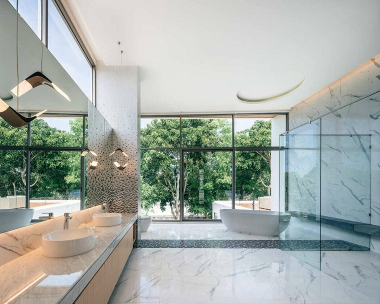 casas modernas interior y exterior-Flat12x-bano