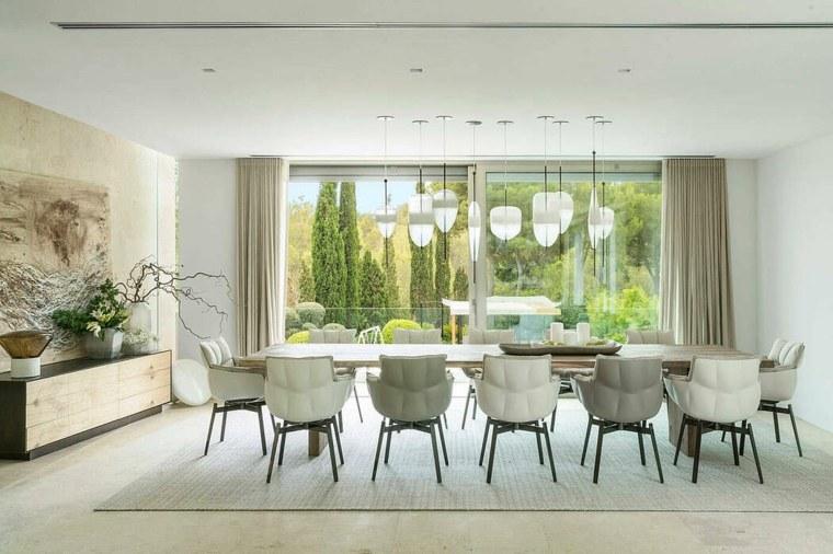 casas-modernas-interior-exterior-Terraza-Balear-comedor