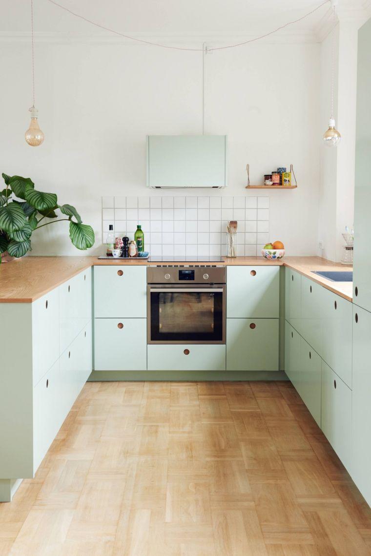 cocina-ikea-color-menta-claro