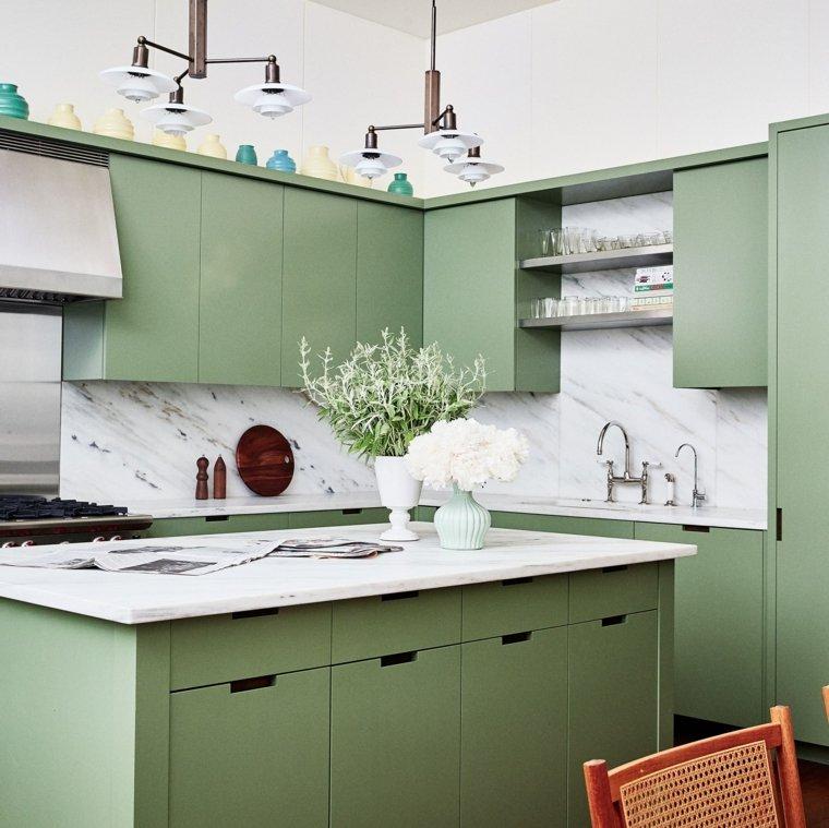 cocina-muebles-color-verde-estilo
