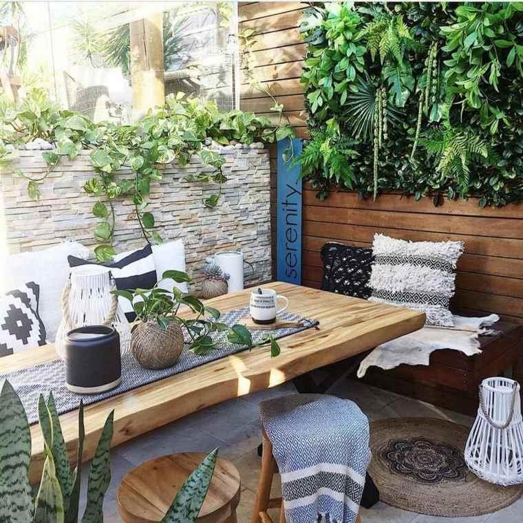 Diseños de jardín bohemio e ideas de patio trasero