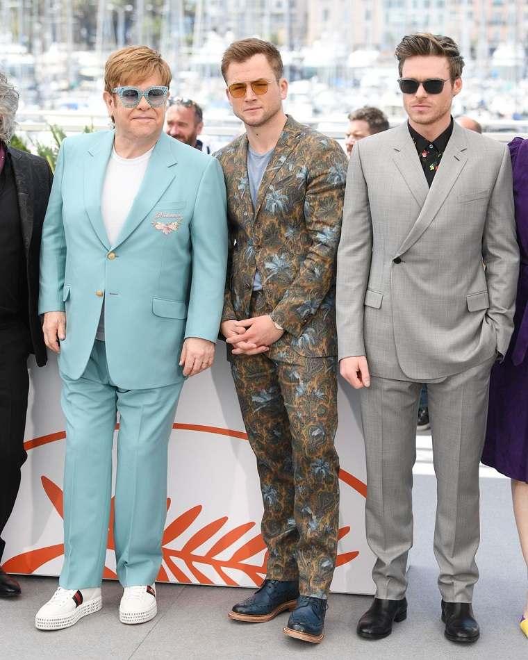 Elton John, Taron Egerton y Richard Madden