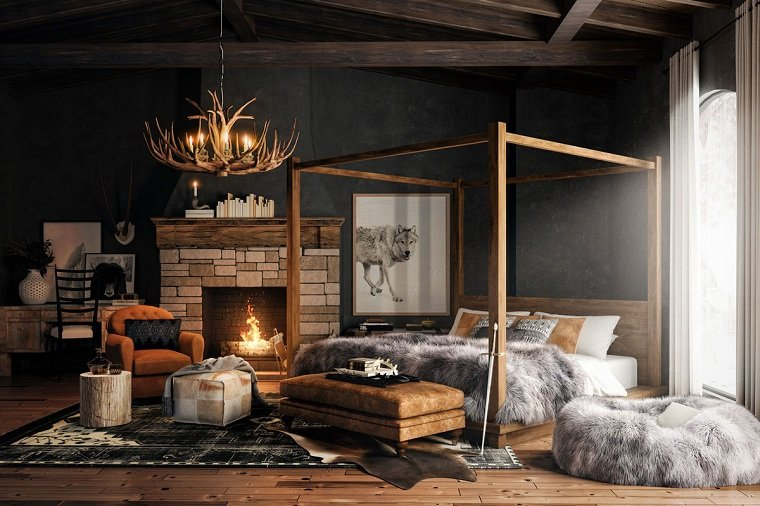 estilo-eclectico-diseno-dormitorio-colores-oscuros