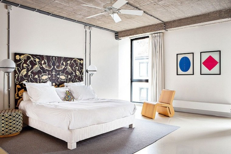 estilo ecléctico-diseno-dormitorio-estilo-simple