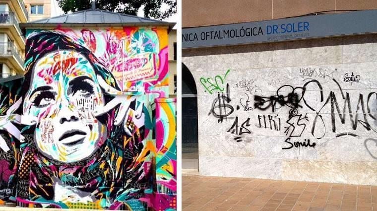 diferencia entre grafiti y arte urbano