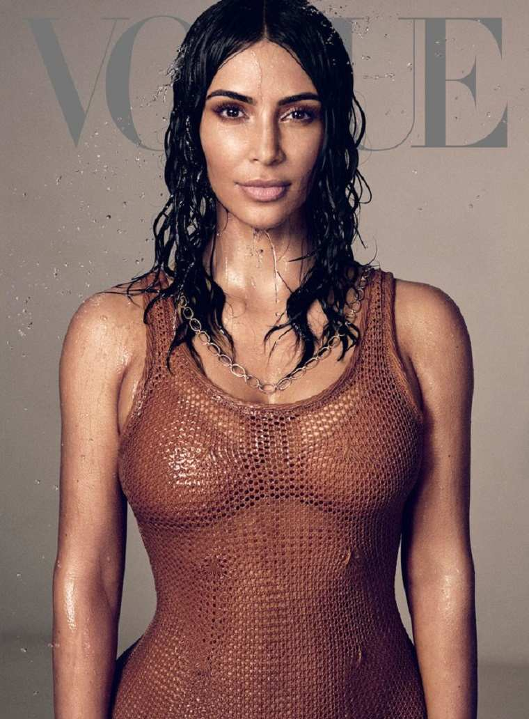 Kim Kardashian en la Revista Vogue