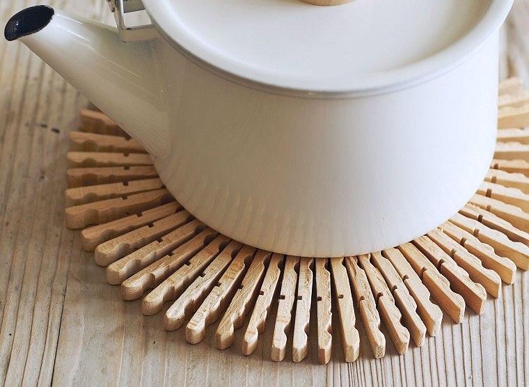 Manualidades faciles para ninos mantel de madera