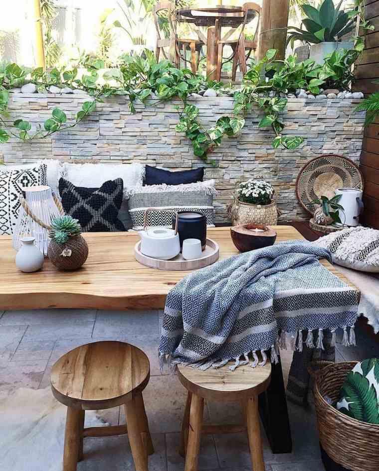 jardín estilo boho e ideas de patio trasero