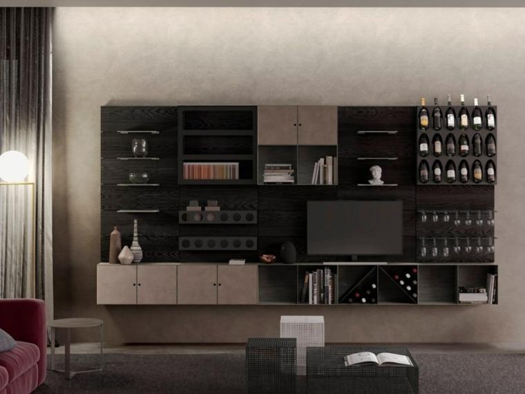 mubles-madera-sala-estar-ideas