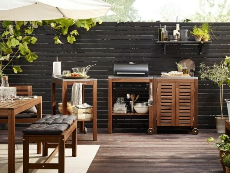 cocina de jardín